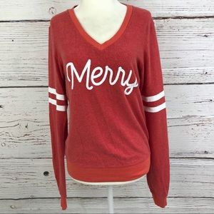 Wildfox merry red Christmas sweater